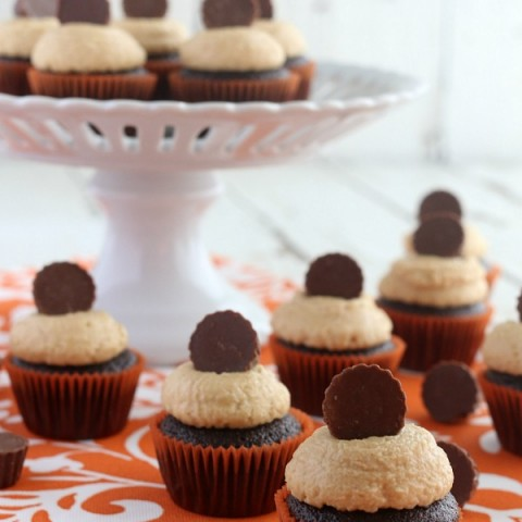 Mini Chocolate Peanut Butter Cup Cupcakes