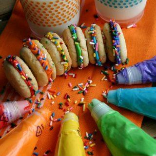Mini Funfetti Sandwich Cookies