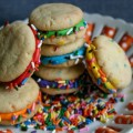 Mini Funfetti Sandwich Cookies :: Recipe on HoosierHomemade.com