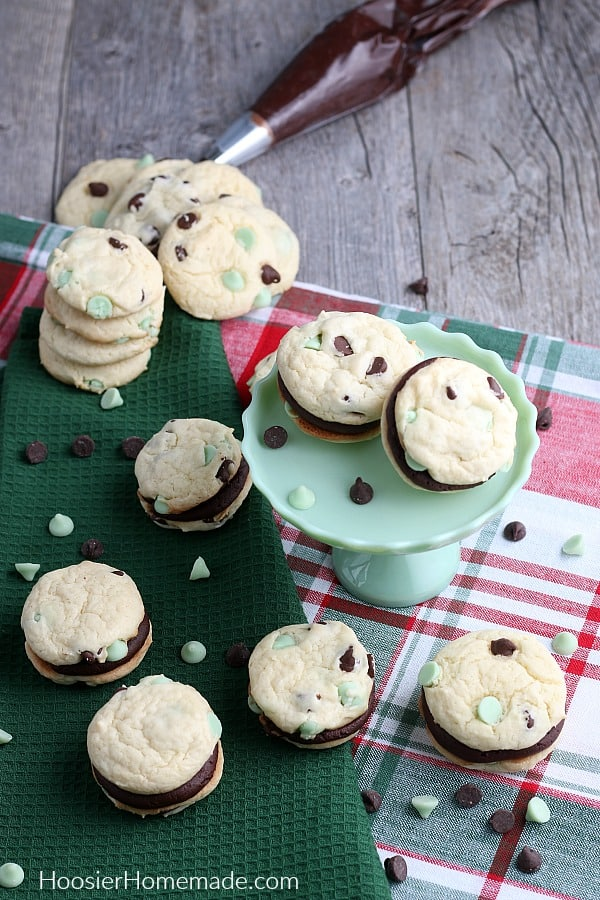 Cake Mix Cookies made into whoopie pies