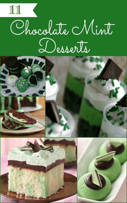 11 Chocolate Mint Desserts on HoosierHomemade.com