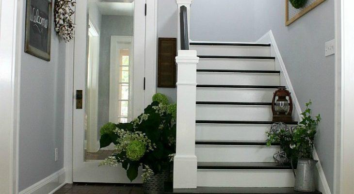 Foyer Wallpaper List : Modern farmhouse foyer makeover hoosier homemade