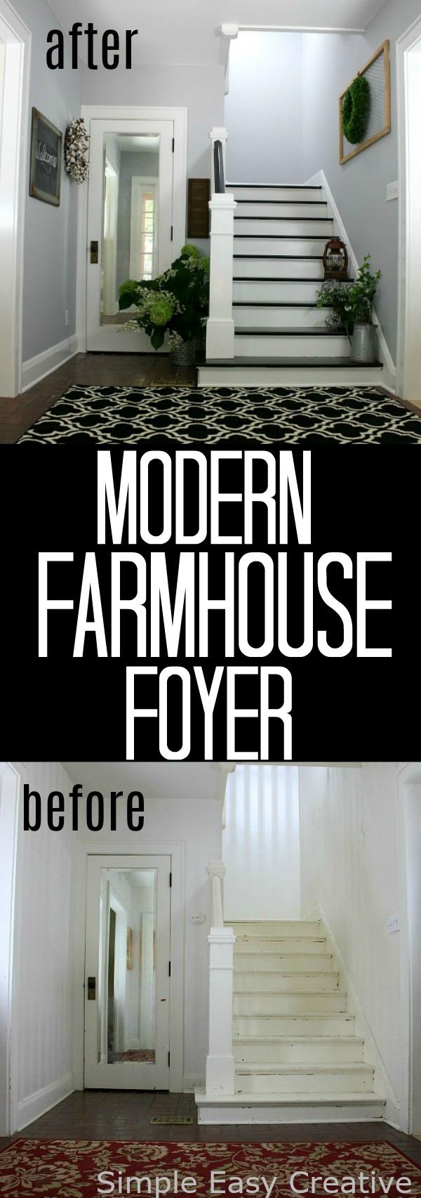 Modern Farmhouse Foyer : Modern farmhouse foyer makeover hoosier homemade