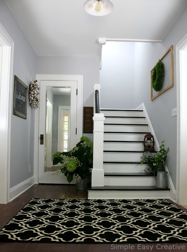 Foyer Electrique Modern Homes : Modern farmhouse foyer makeover hoosier homemade