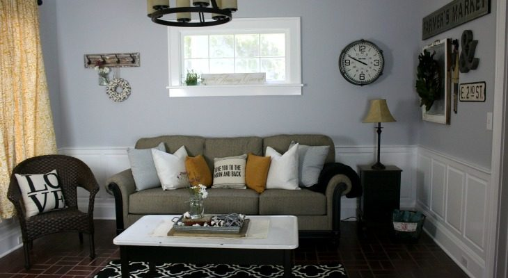 Modern Farmhouse Living Room Makeover