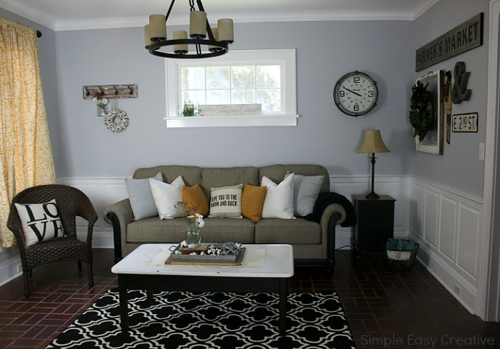 MODERN FARMHOUSE LIVING ROOM MAKEOVER    Turn A Boring Room Into A Fabulous  Room With