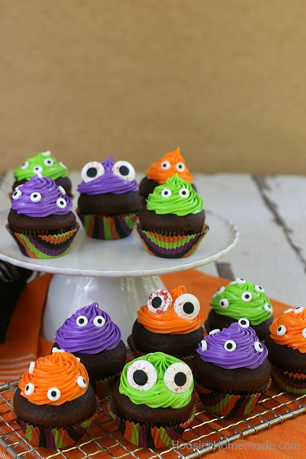 Easy Monster Eye Cupcakes Hoosier Homemade