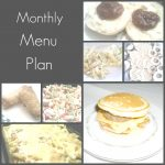 Monthly Menu collage