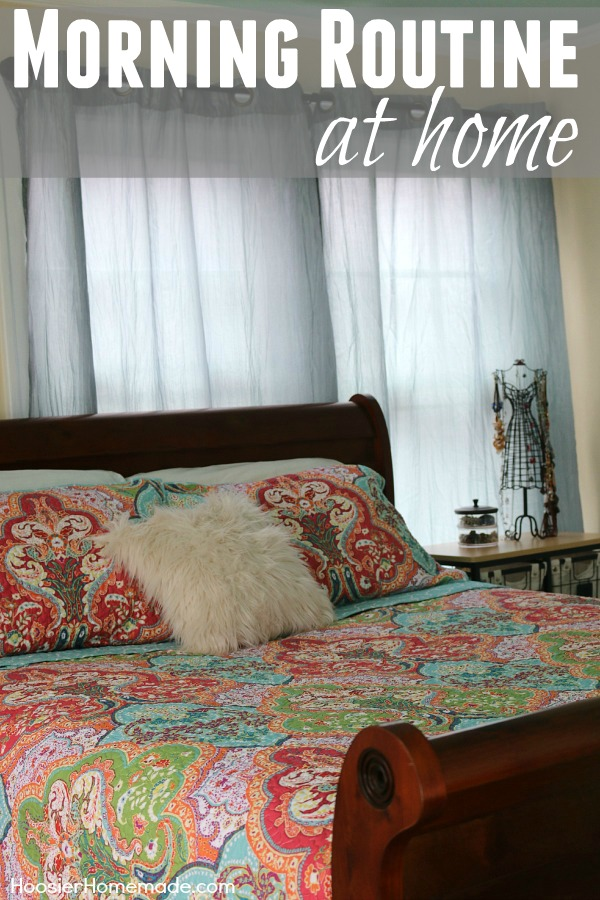 Having a Morning Routine at Home is an essential piece of your day! It gets your day started off the right way! It doesn't have to be complicated, come see how I transformed my day by changing my morning routine.