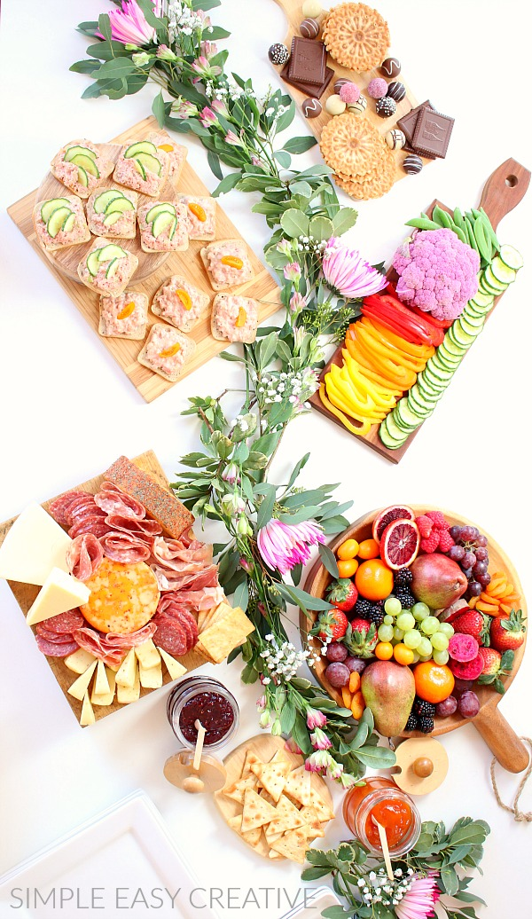 Table with Charcuterie Boards
