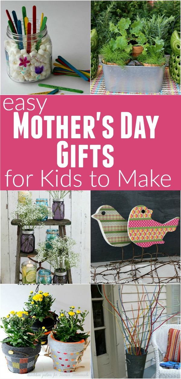 These Mother's Day Gifts are easy enough for the kids to make! They don't take much time and are inexpensive too!