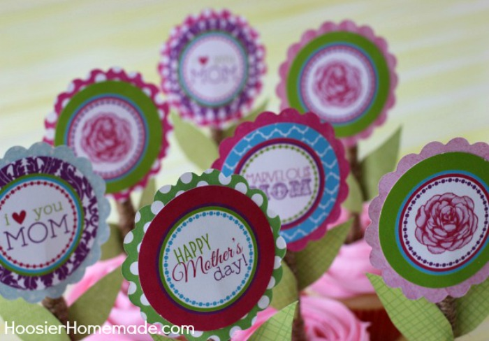 Printable Mother's Day Cupcake Toppers