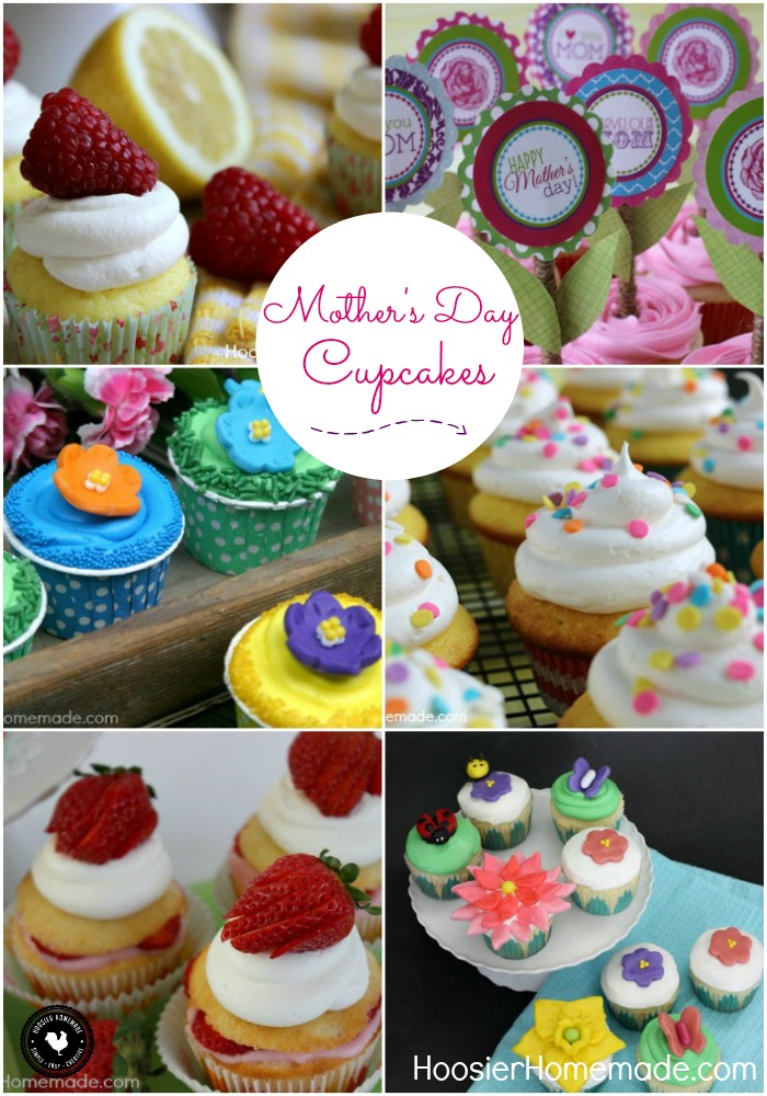 It's time to show Mom how much she means to you! Whip up one of these delicious Mother's Day Cupcakes including Lemon, Strawberry and FREE Printable Cupcake Toppers! Be sure to save the recipes by pinning to your Recipe Board!