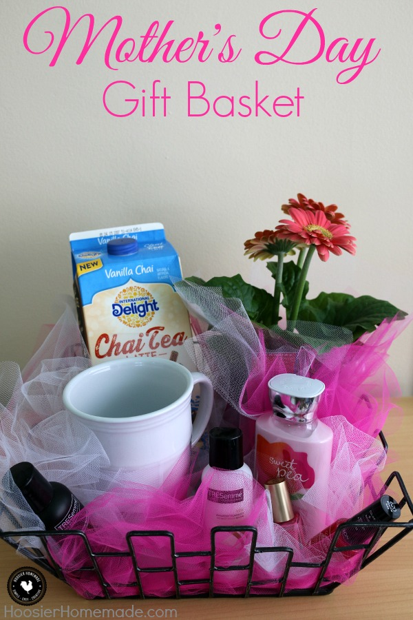 Treat Mom special on Mother's Day with this easy to put together Mother's Day Gift Basket! Fill with everything Mom needs to pamper her! Be sure to save by pinning to your Gift Giving Board!