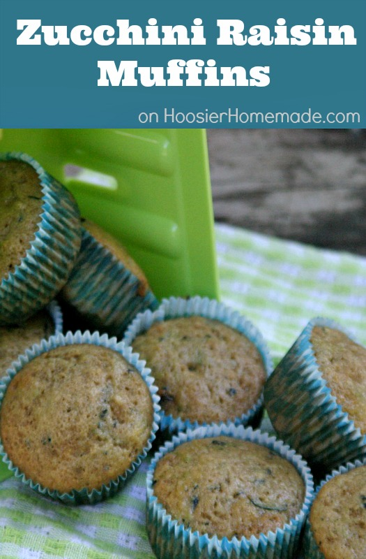 Zucchini Raisin Muffins :: Recipe on HoosierHomemade.com