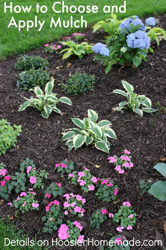 How to Choose and Apply Mulch to Flower & Landscaping Beds | Details on HoosierHomemade.com