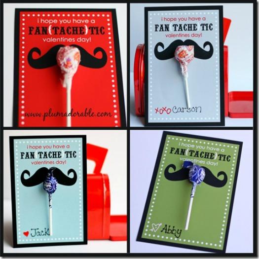 Mustache Valentine Cards