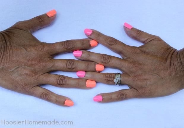 Summer Nails with Salon Perfect :: HoosierHomemade.com