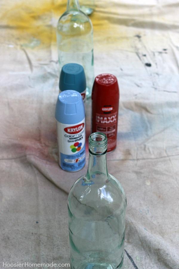 Nautical Mantel.bottles.before