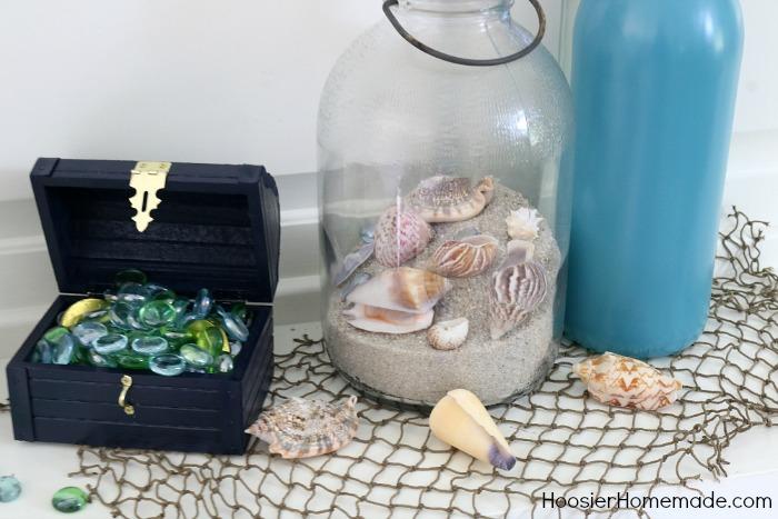 Nautical Mantel.treasure chest