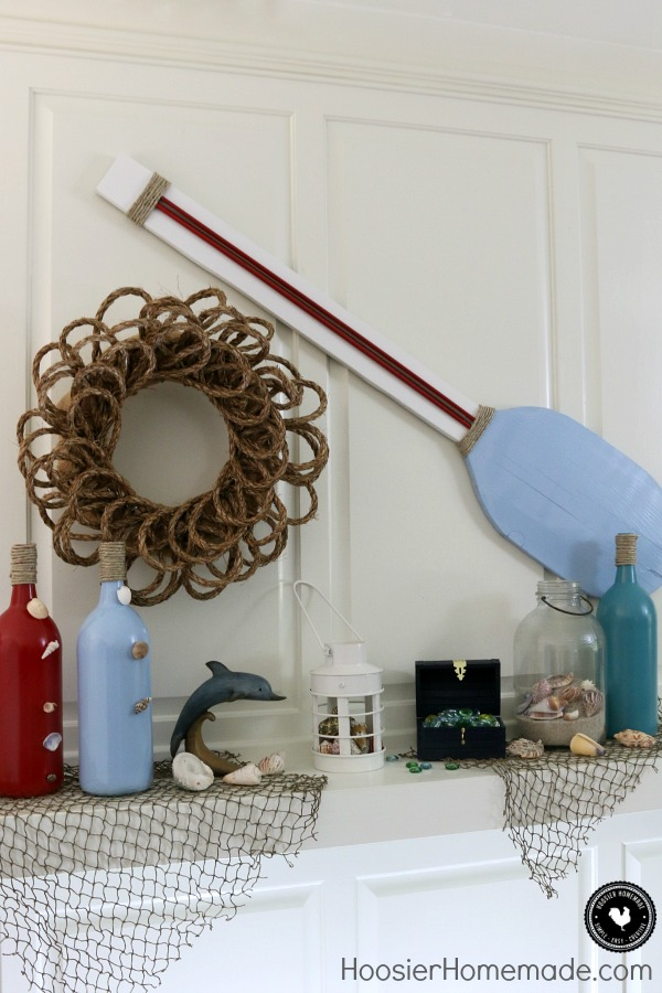 Make These Easy Nautical Themed Decorations For Your Mantel Table Or Even As Party
