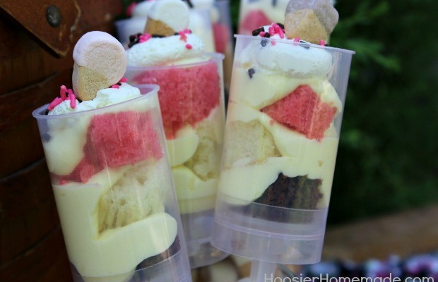 Neapolitan Cake Push Pops :: Recipe on HoosierHomemade.com