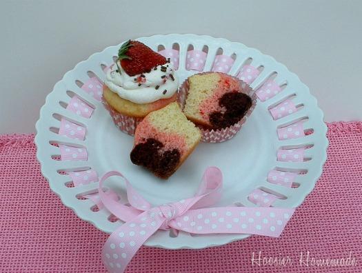 Neapolitan Cupcakes Neapolitan cupcakes: cupcake