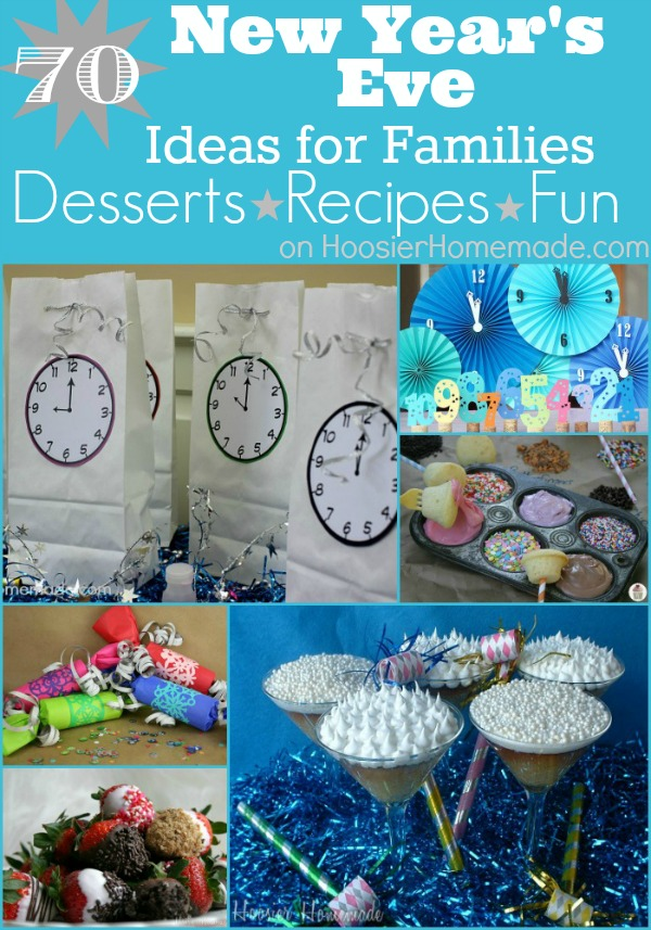 Ring in the New Year with these New Year's Eve Desserts, Recipes and Fun for ALL ages! Pin to your Party Board!