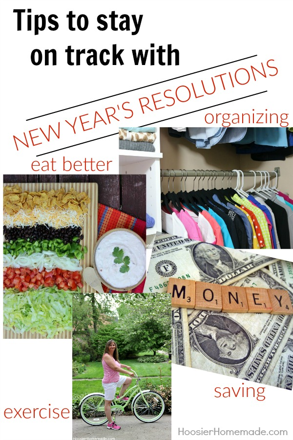 Tips to stay on track with your New Year's Resolutions