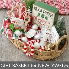 Christmas Ornament Gift Basket