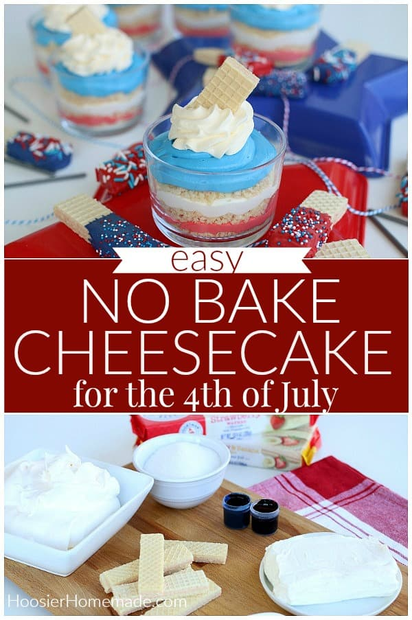 No Bake Cheesecake for 4th of July