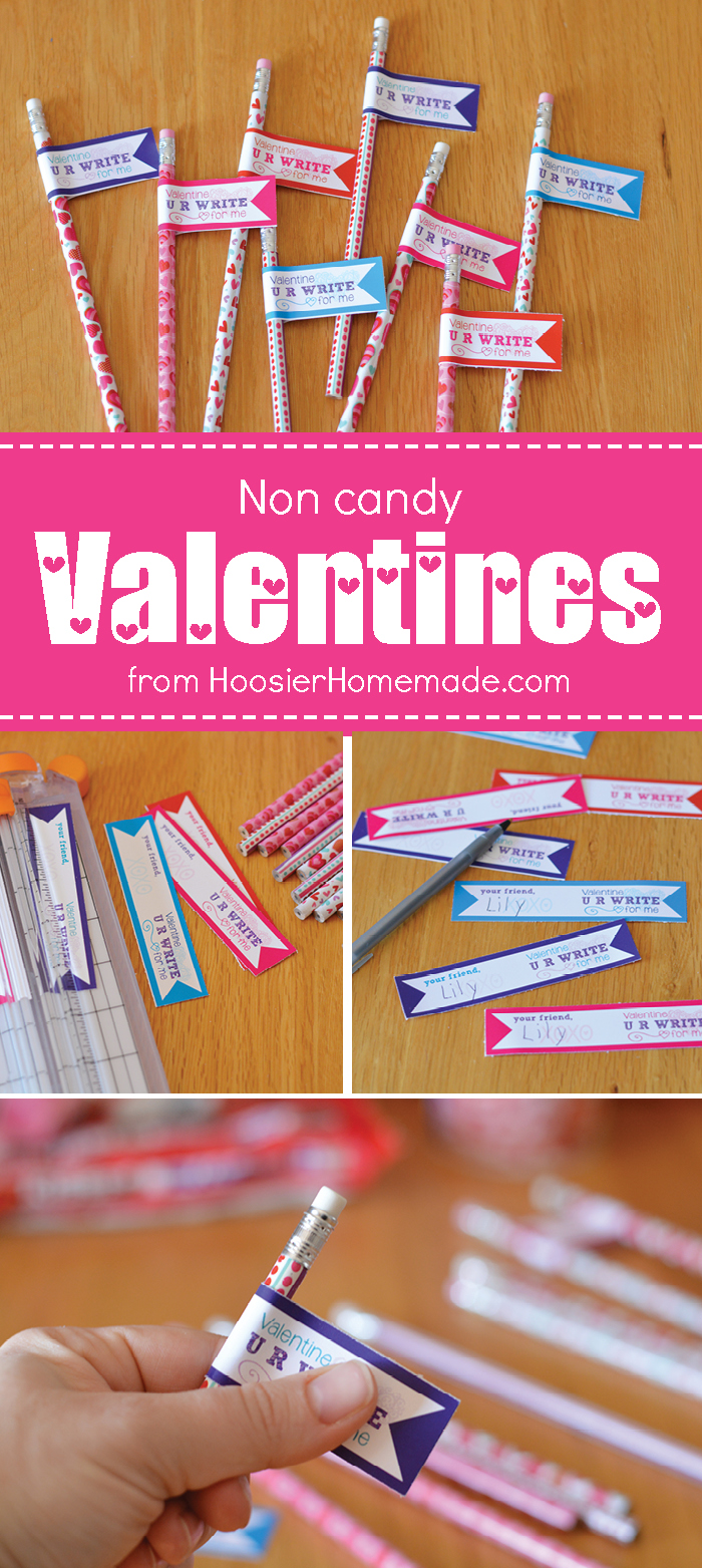 No need to run to the store and buy Valentines! These adorable Printable Non Candy Valentines are perfect for classroom parties, friends and more! Print them on your home computer, and let the kids add the pencils!