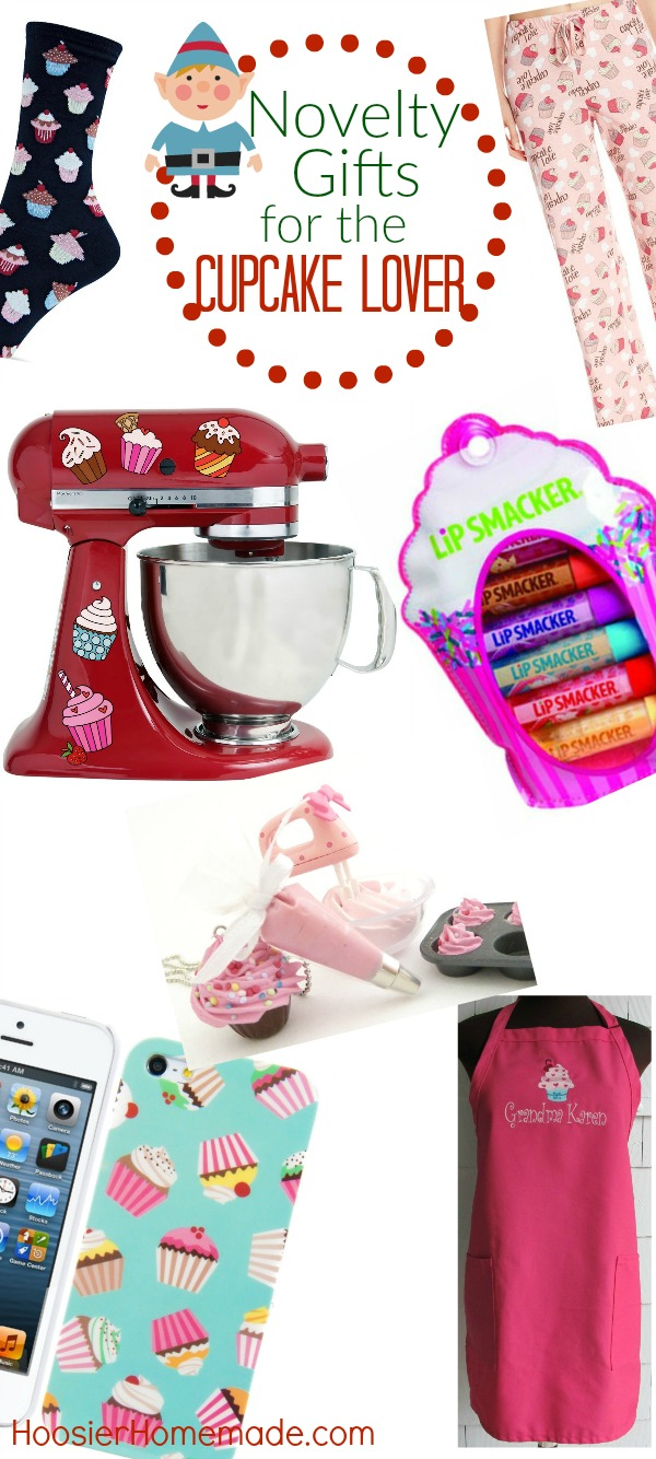 The Cupcake Lover in your life will LOVE these Novelty Gift Ideas! From aprons - to cupcake decals - to jewelry and clothing! There is something for every cupcake lover on your list!