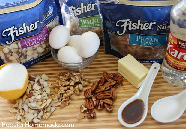 Triple Nut Tart | Recipe on HoosierHomemade.com #ThinkFisher