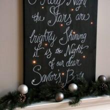 Twinkling Christmas Canvas Art : 100 Days of Homemade Holiday Inspiration on HoosierHomemade.com
