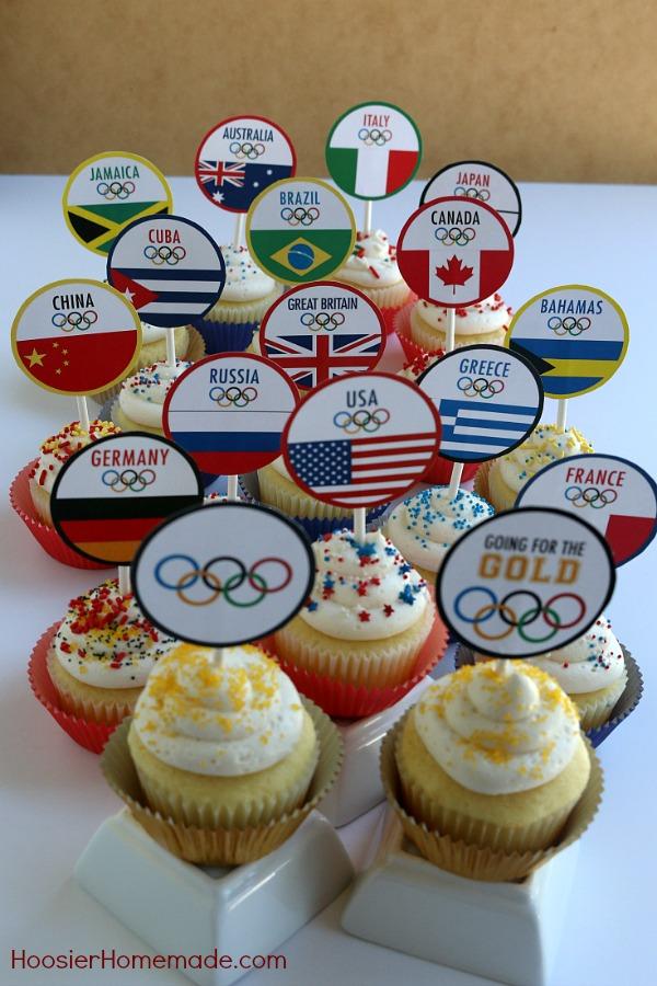 photo regarding Printable Cupcake named Olympic Cupcakes: Printable World-wide Flag Cupcake Toppers