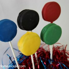 Olympic Oreo Pops | Instructions on HoosierHomemade.com