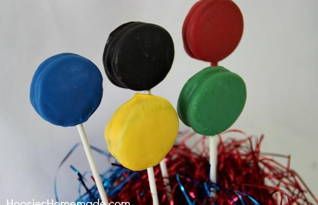Olympic Oreo Pops | Instructions on HoosierHomemade.com