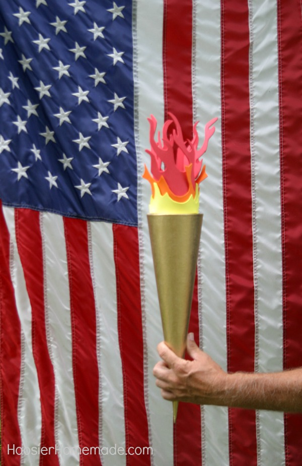 how to make an olympic torch hoosier homemade