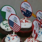 Olympic World Flag Cupcake Toppers - July 2012