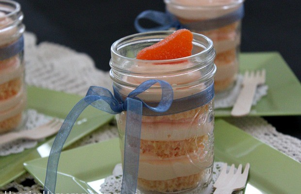 Orange Creamsicle Cupcakes in a Jar :: Recipe on HoosierHomemade.com