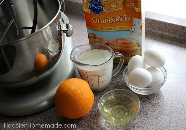 Orange Creamsicle Cupcakes in a Jar :: Recipe on HoosierHomemade.com