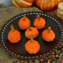 Gingerbread Pumpkin Bites Recipe :: HoosierHomemade.com