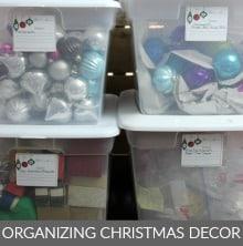 Organizing Christmas Decorations