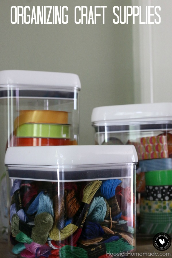 Let's get organized! Learn how easy is it to get your craft supplies organized and keep them that way! Use unusual containers to organize your craft supplies! Click on the photo to learn more!