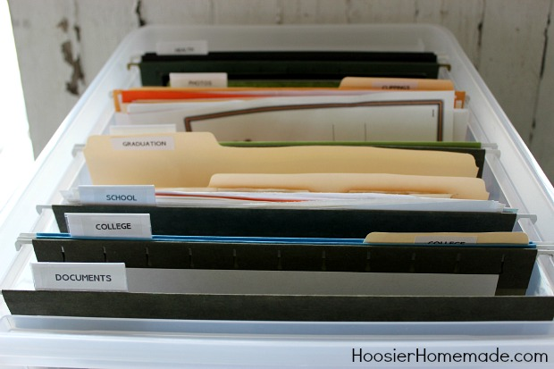 How to Organize Children's Papers :: HoosierHomemade.com
