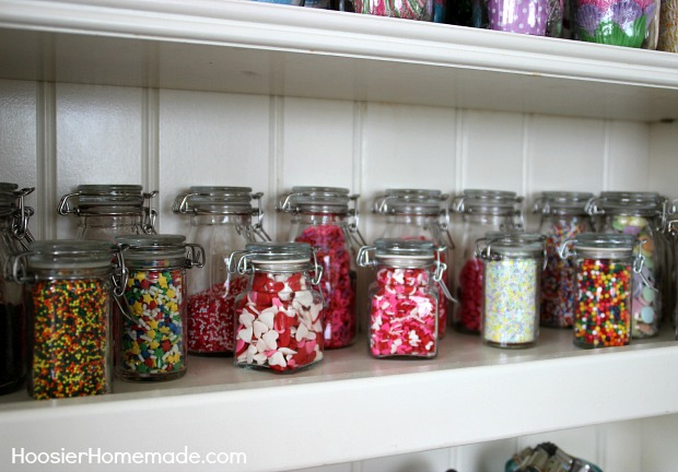 Jars filled with Sprinkles