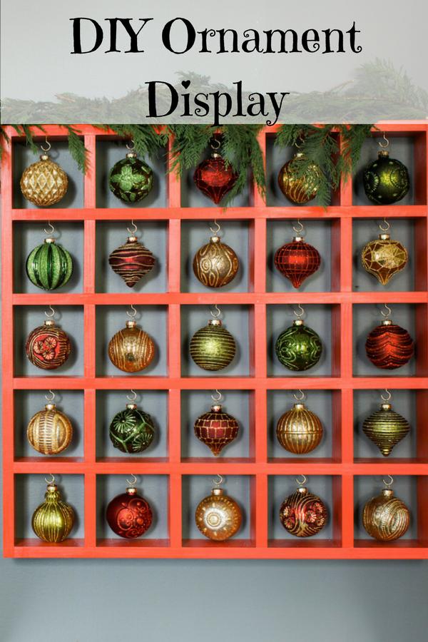 DIY ornament display