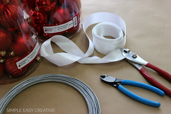 Supplies to make Ornament Garland