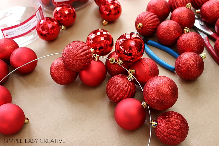 Making Ornament Garland